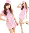Krankenschwester-Outfit Hot Nurse (Kleid, String, Haube)