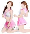 Cosplay-Kostüm Sexy Schulmädchen - Rosa