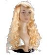 P1: Gelockte Langhaarperücke in blond